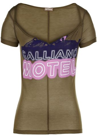 John Galliano Slogan Tee - Lyst
