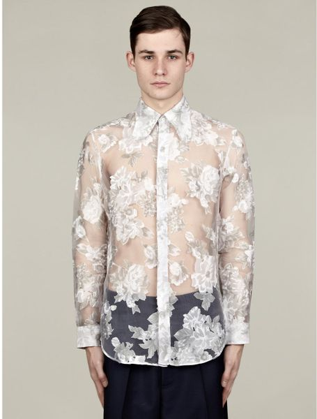 2013 hugo boss mens fashion t shirts male models picture for Mens white floral shirt