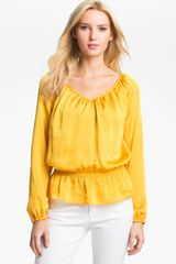 Michael by Michael Kors Peplum Hem Peasant Top - Lyst