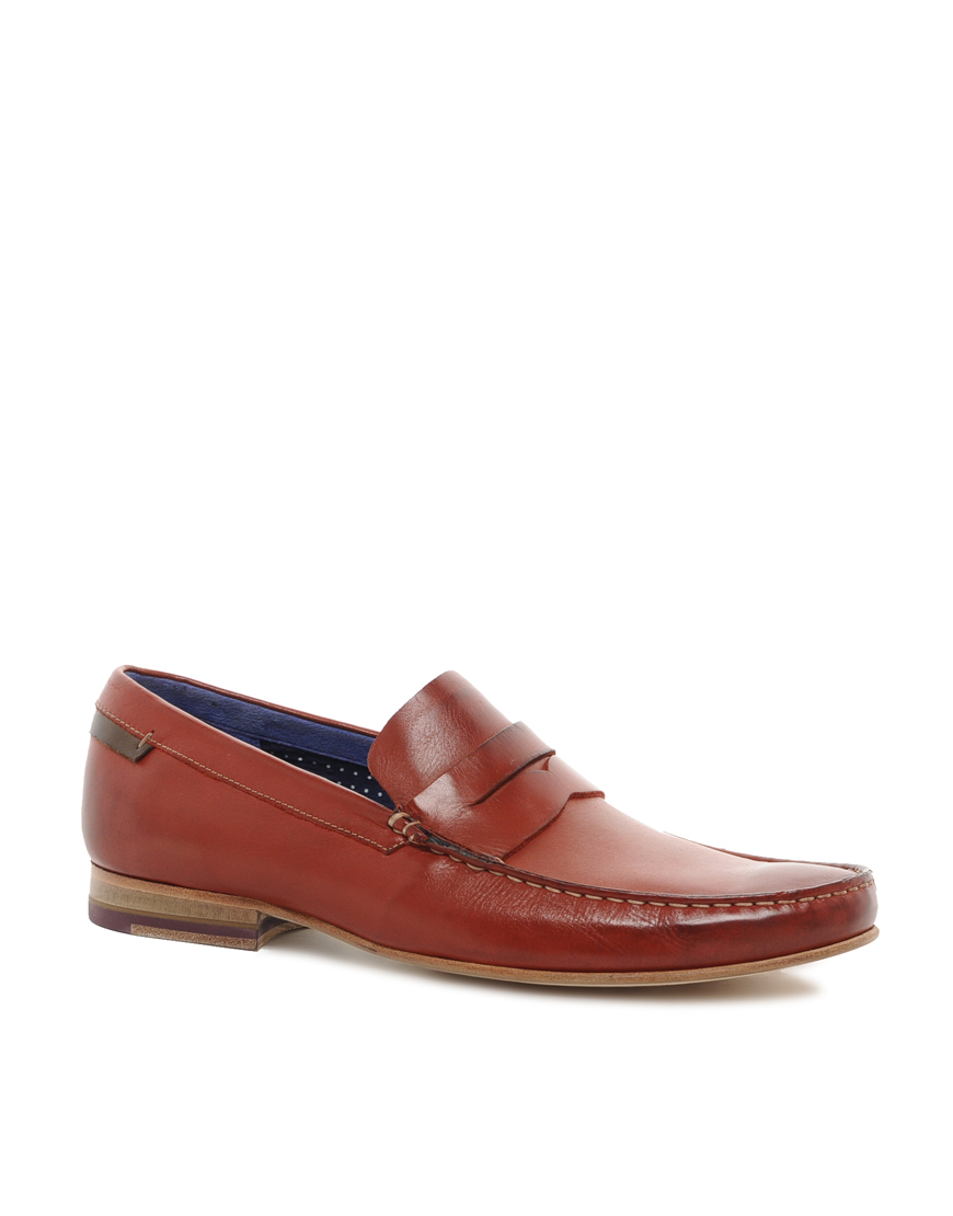 Ted Baker Vitric Loafers In Brown For Men Lyst