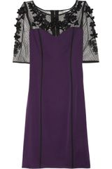 Temperley London Rose Embellished Stretch-silk Blend Dress - Lyst