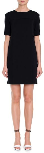 Tibi Short Dress in Black (purple)