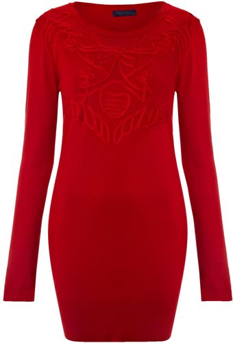 Vivi Boutique Embroidery Front Jumper - Lyst