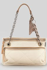 Lanvin Quilted Leather Shoulder Bag - Lyst