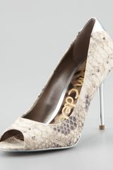 Sam Edelman Reagan Snakeprint Metallic Pump - Lyst