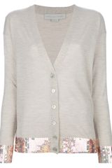 Stella McCartney Sequin Trim Cardigan - Lyst