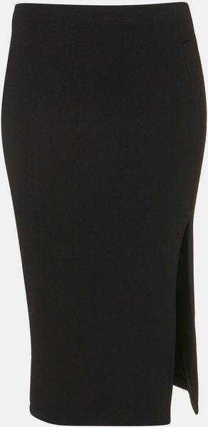 Topshop Side Slit Pencil Skirt - Lyst