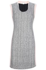 Diane Von Furstenberg Tweed Panel Dress - Lyst