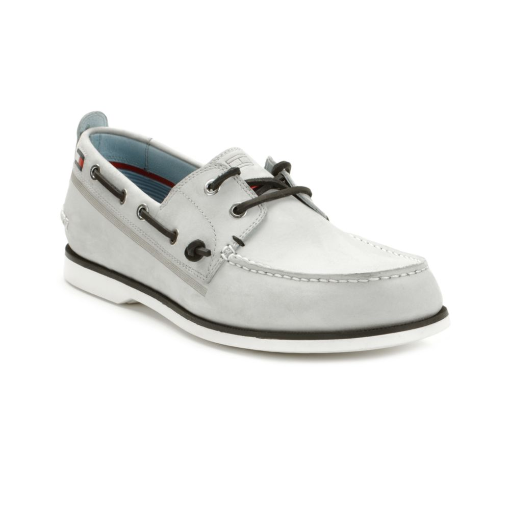 0b489a2269cbb5 Lyst - Tommy Hilfiger Ally Boat Shoe in Gray for Men