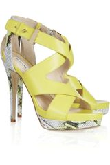 Burak Uyan Leather and Python Sandals - Lyst