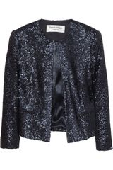 Helene Berman Cropped Sequined Jacket