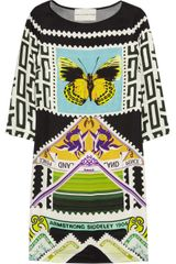 Mary Katrantzou Teleport Silk Crepe De Chine Dress - Lyst