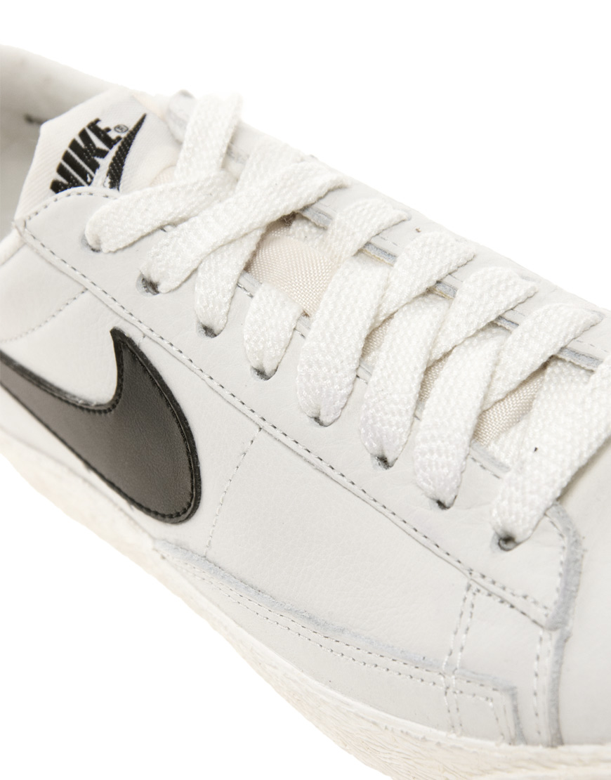 reputable site 5c538 3db5d Lyst - Nike Blazer Low White Leather Trainers in White