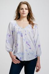 Rebecca Taylor Hawaii Printed Silk Blouse - Lyst