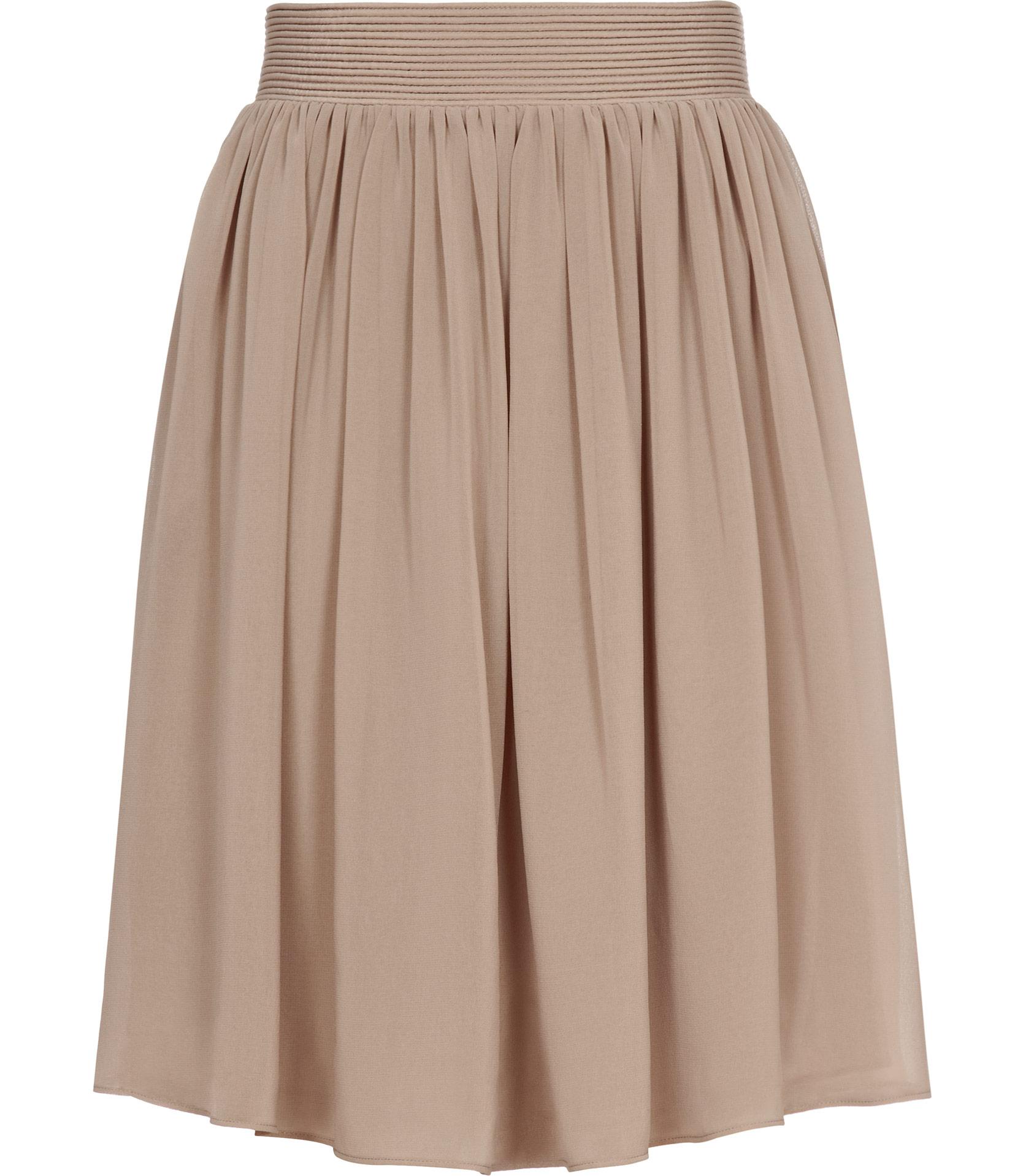 Reiss mason flared skirt in beige umber lyst