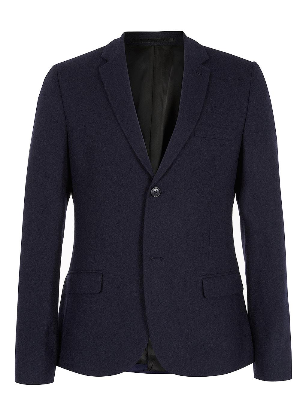 Blazers For Men Pinterest: Topman Navy Flannel Skinny Blazer In Blue For Men