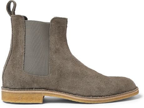 Bottega Veneta Suede Chelsea Boots in Gray for Men   Lyst  Chelsea Boots