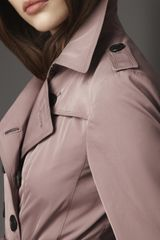 Burberry Long Taffeta Twill Trench Coat in Beige (pink rosewood) - Lyst