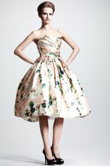 Dolce & Gabbana Convertible Floral Print Silk Dress - Lyst