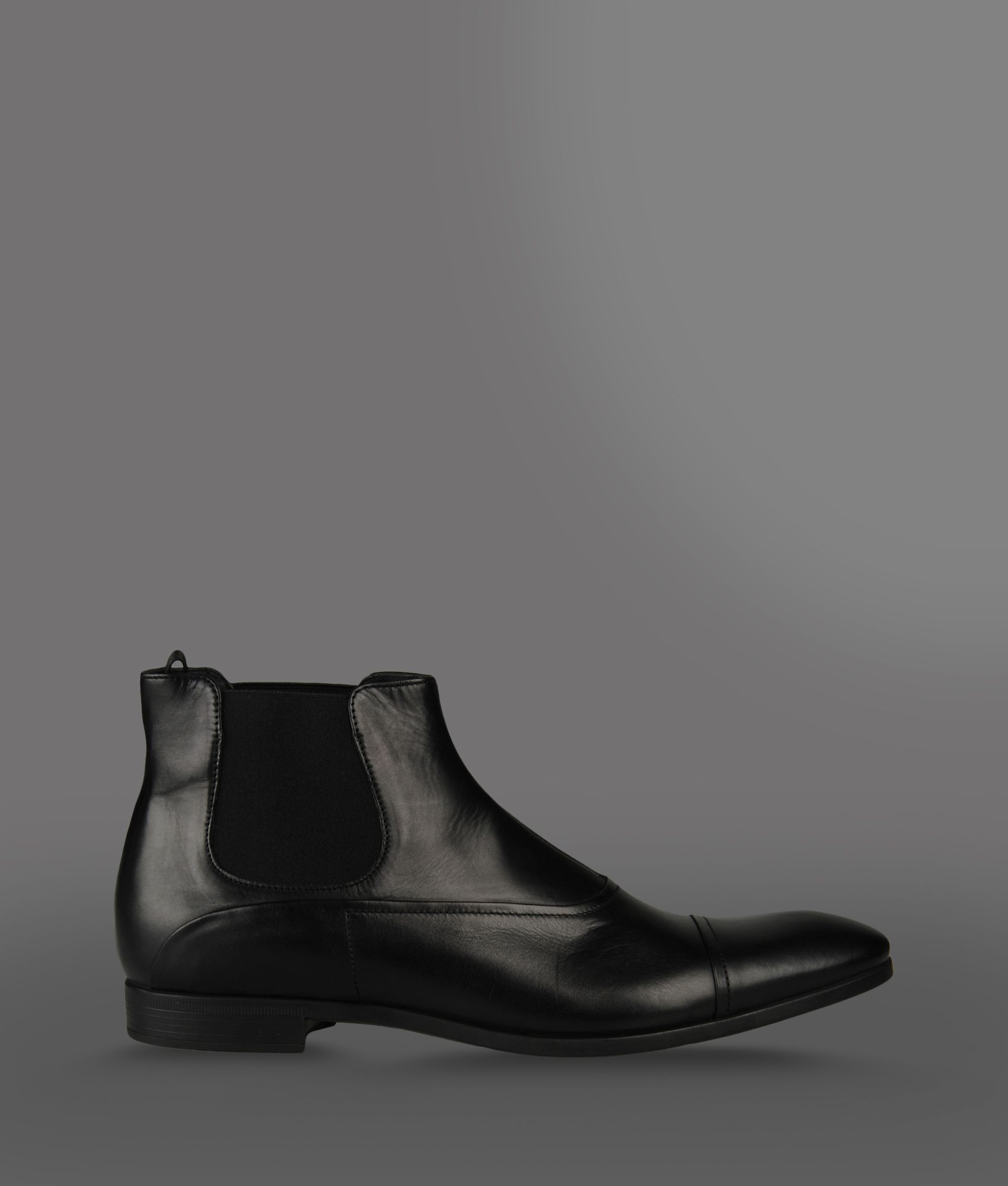 Lyst Emporio Armani Beatle Boot With Elastic And Rubber