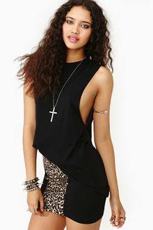 Nasty Gal Hang Loose Muscle Tee Black - Lyst