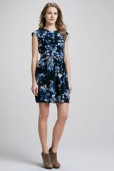 Rebecca Taylor Hawaii Printed Peplum Dress - Lyst