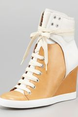 See By Chloé Colorblock Wedge Sneaker - Lyst
