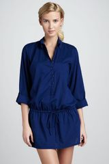 Splendid Drawstring Buttondown Tunic - Lyst