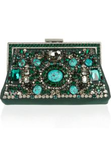 Valentino Embellished Silk Satin Clutch - Lyst