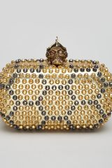 Alexander McQueen Bee Punk Skull Studded Clutch Bag - Lyst