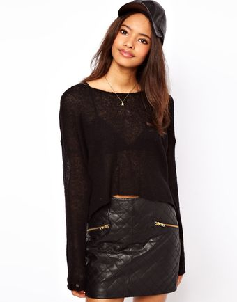 ASOS Collection Asos Cropped Fluffy Jumper - Lyst