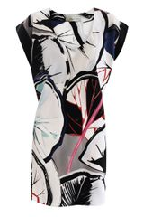 Balenciaga Gingkoprint Silk Dress - Lyst