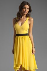 Black Halo Francis Dress in Sunflower - Lyst