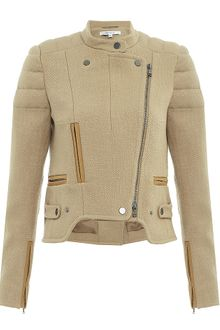Carven Cropped Biker Jacket - Lyst