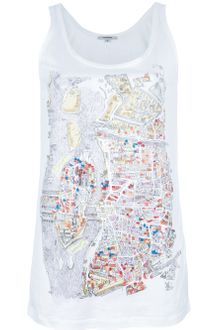 Carven Contrast Map Print Top - Lyst