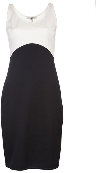 Halston Heritage Colorblock Ponte Dress - Lyst
