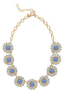 J.Crew Crystal Circle Necklace - Lyst