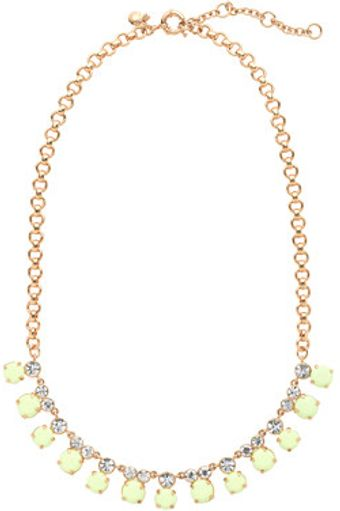 J.Crew Crystal and Cabochon Necklace - Lyst