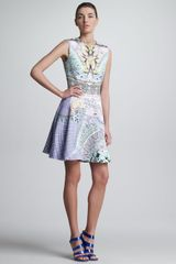 Mary Katrantzou Babs Printed Circle Skirt Sleeveless Dress - Lyst