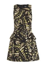 McQ by Alexander McQueen Butterflyprint Mini Dress - Lyst