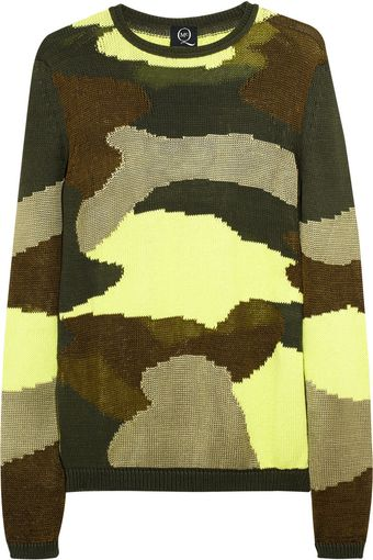 McQ by Alexander McQueen Camouflage Cotton Blend Sweater - Lyst