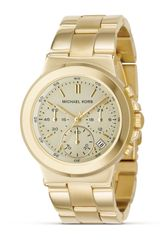 Michael by Michael Kors Stainless Steel Gold Plated Chronograph Watch with Bracelet Strap 38 Mm - Lyst