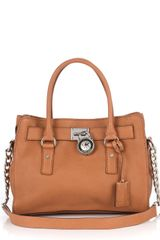 Michael by Michael Kors Hamilton Leather Satchel - Lyst