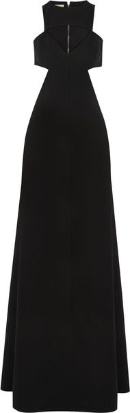 Michael Kors Cutout Stretch-wool Gown - Lyst