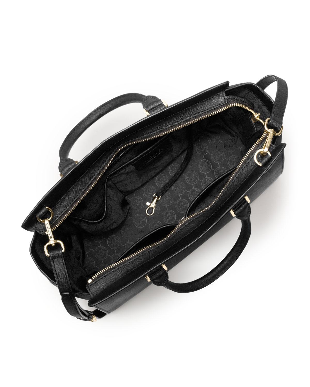michael kors large selma topzip satchel in black lyst. Black Bedroom Furniture Sets. Home Design Ideas