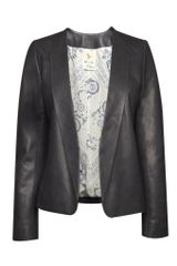 MiH Jeans Mih Jeans The Leather Blazer Navy