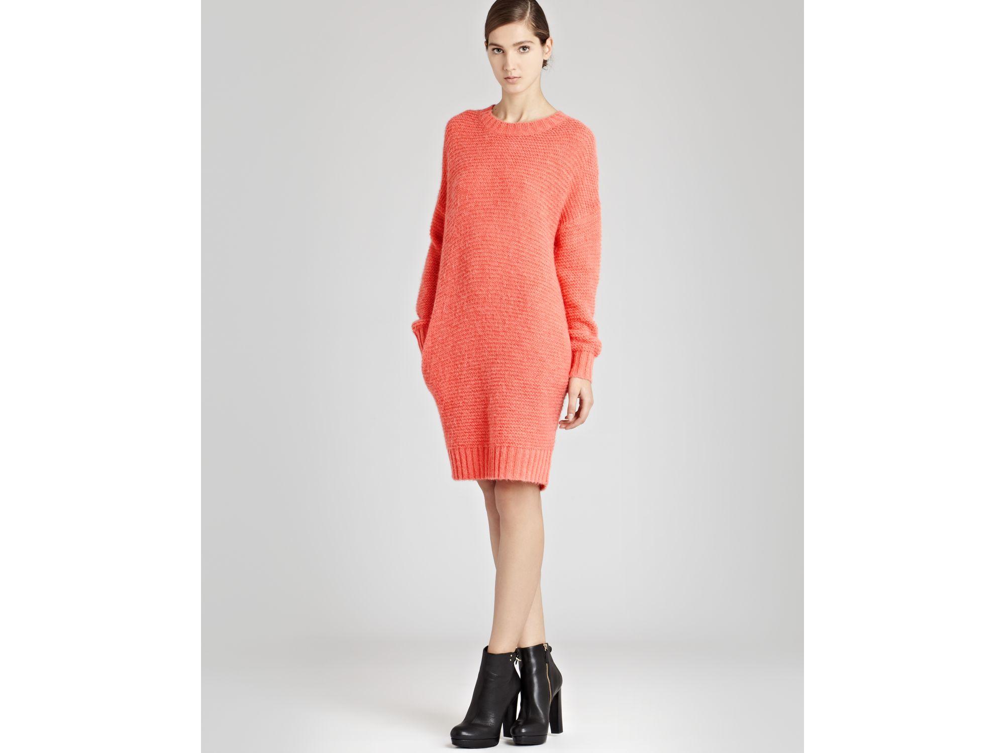 e460dc583b Lyst - Reiss Loose Knit Dress in Pink
