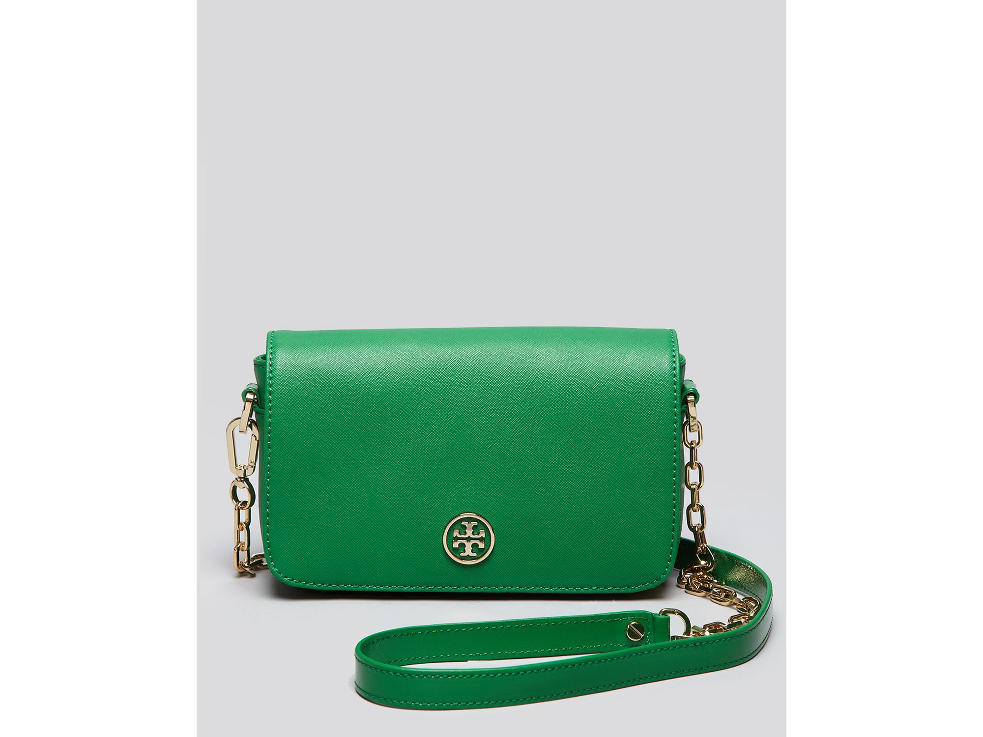 a66b67cd2 coupon code for lyst tory burch crossbody robinson in green 2777d 35479