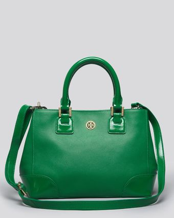 Tory Burch Satchel Robinson Mini Square - Lyst