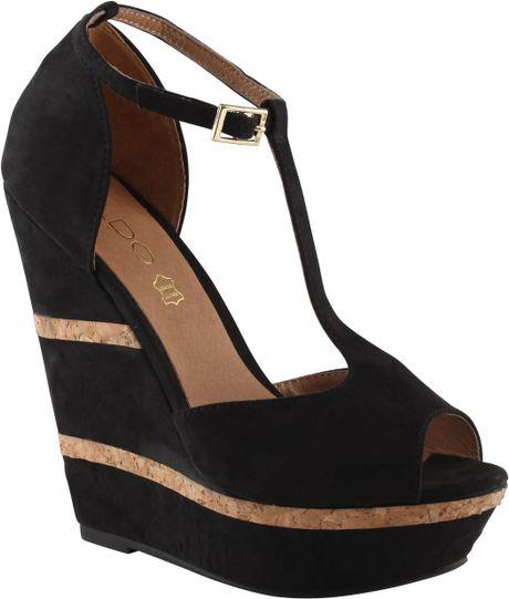 aldo wedge shoes in black lyst